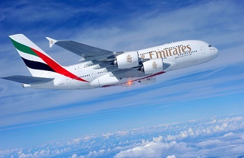Emirates, the largest A380 customer, enters its no. 1 A380 into revenue service.